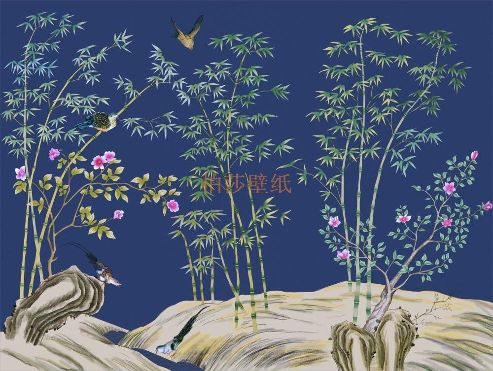 新中式壁画高清贴图_美女吧